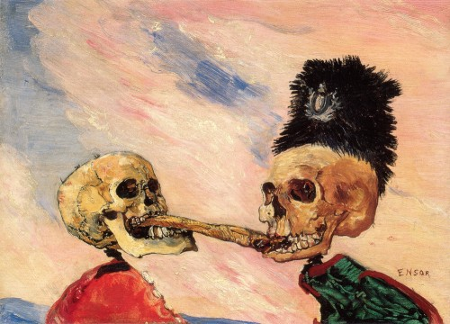 James-ensor-skeletons-fighting-over-a-pickled-herring