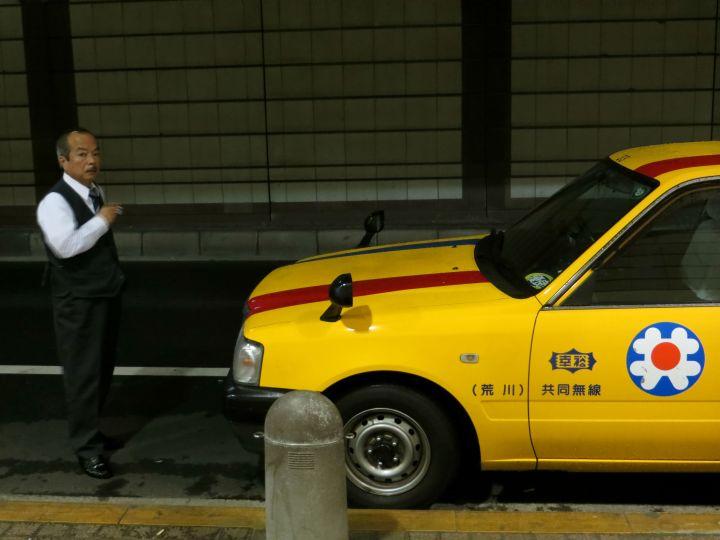 taxi driver tokyo japan