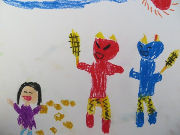 Setsubun Japanese kindergarten teaching