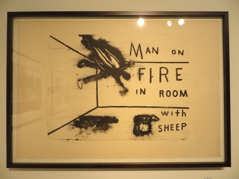 Man on Fire in Room with Sheep (2013) david lynch tokyo 2014
