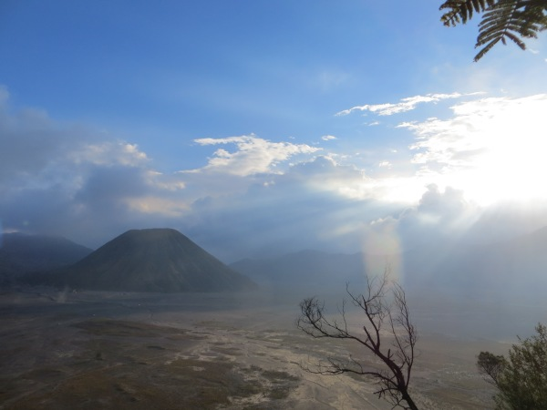 Down below the area is just as beautiful, but the lush greenery is replaced with stark volcanic desolation. I'll be writing about the darker side of Mount Bromo soon: where I climbed the crater at midnight to take part in  an unforgettable ceremony.