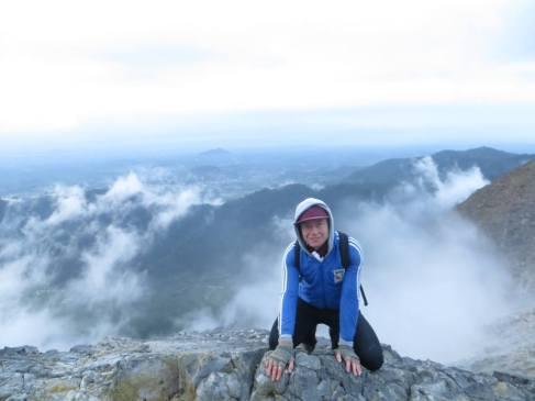 At the summit of Sibayak- an active volcano in Sumatra.