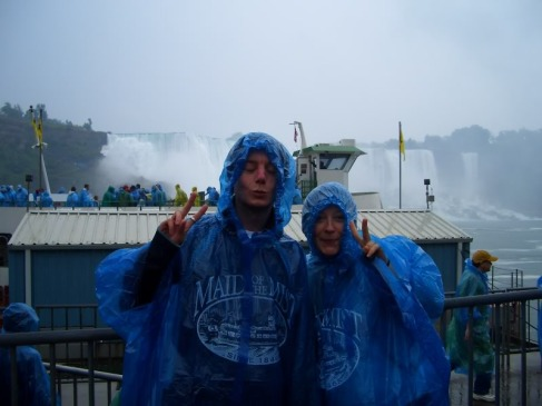 Me (Northern Ireland) at Niagra (Canada) with Rhi (UK) who I first met in Fukuoka (Japan).