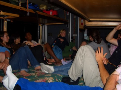 Road Trip to Yosemite in 2007. 33 people crammed on a bus: sleeping, drinking and not washing for days. Fun times.
