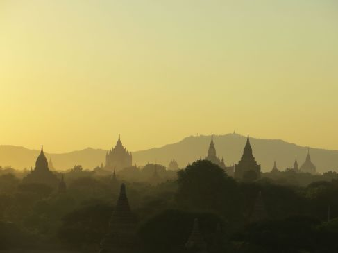 Sunset over the Temples of Bagan, Myanmar