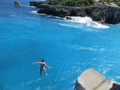 Cliff Jumping in Bali