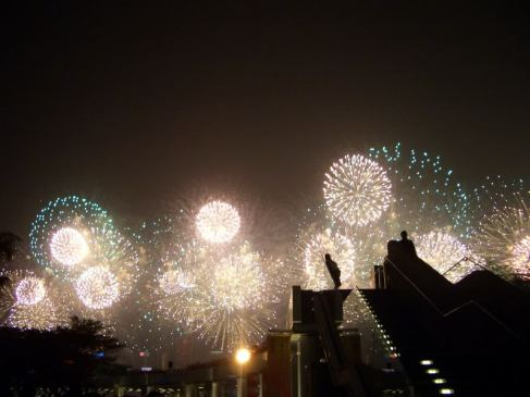 Chinese New Year in Hong Kong and the biggest fireworks display I've ever seen.