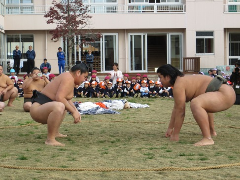 But there is the important business of sumo wrestling to attend to.