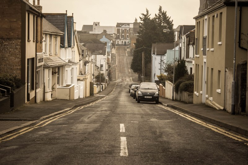 The photo in question. Central Avenue in Bangor, Northern Ireland.