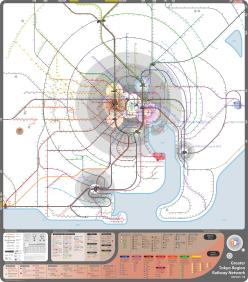 Full railway map Tokyo Bernie