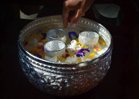 songkran isaan thailand khan nam silver bowl