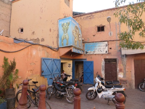 Gym in Marrakech, Morocco.