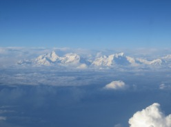 Flying over the Himalayas