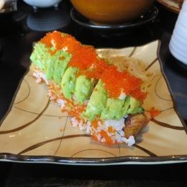 Avocada and cod roe maki rolls at Nagisa