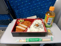 Tonkatsu (deep-fried pork cutlet) bento