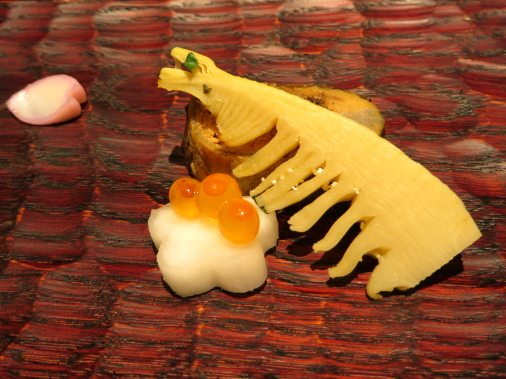 Ayu river fish and bamboo shoot