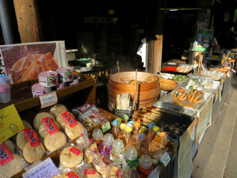 Jindaiji stalls food