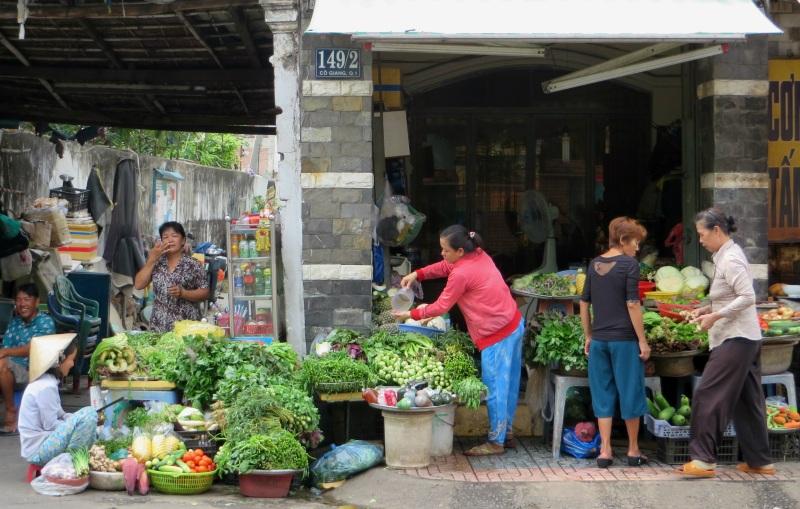Vegetable sellers Saigon