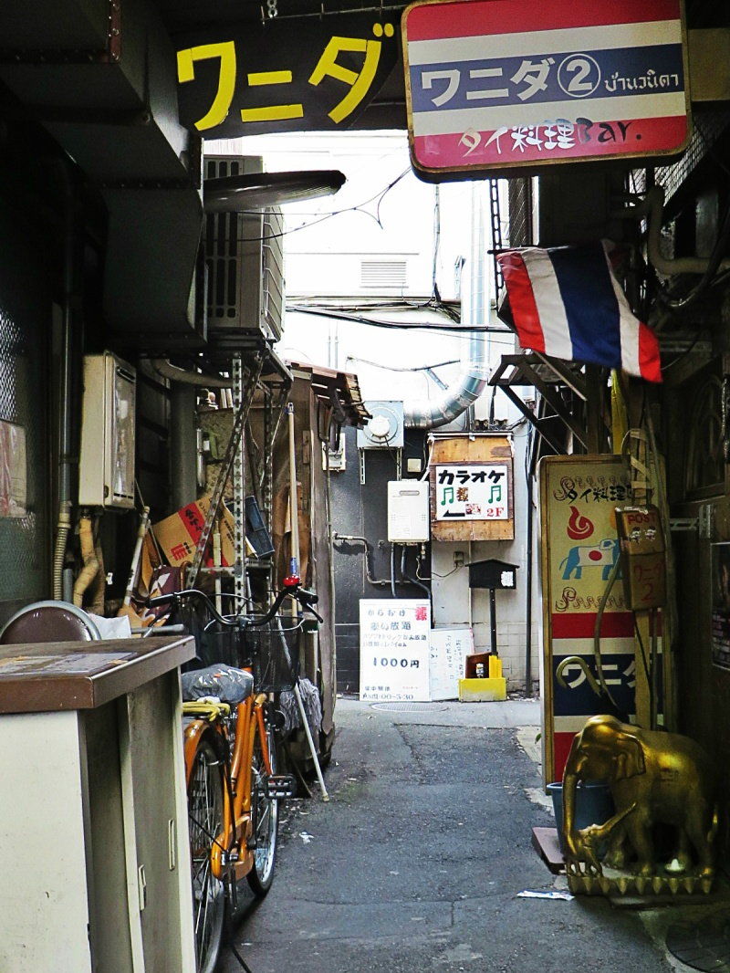 Akabane alleyway tokyo Thai restaurant