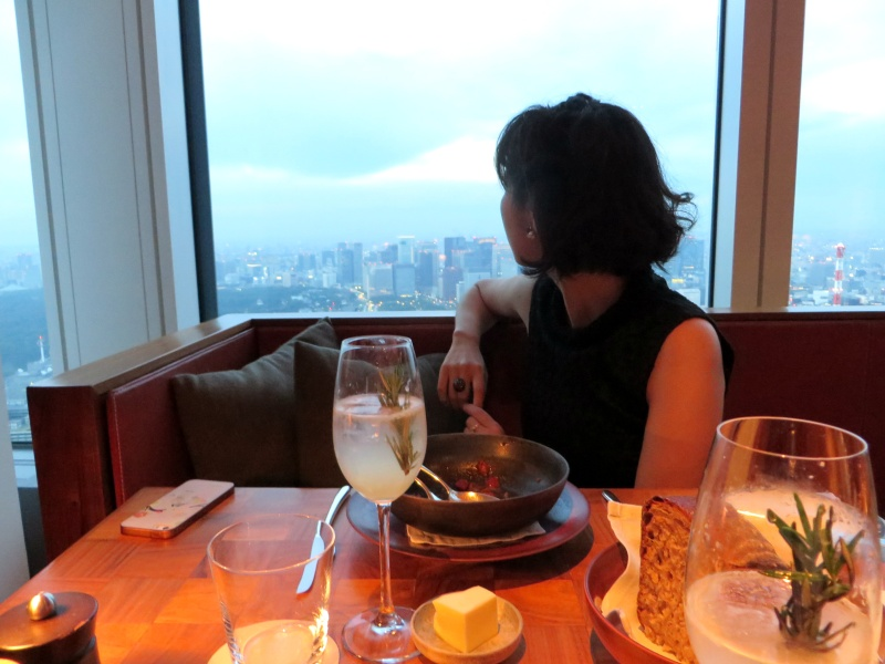 Tokyo Andaz Tavern view table