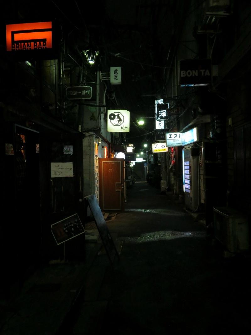 Golden Gai nightshot tokyo