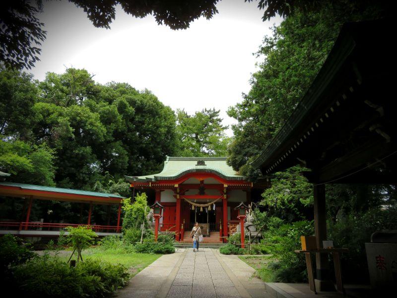 Quiet temple green Tokyo