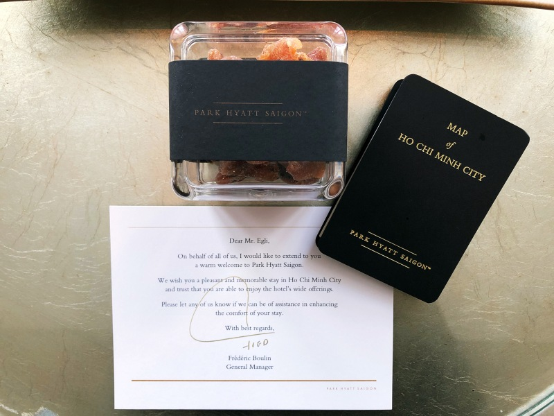 Park Hyatt Saigon welcome