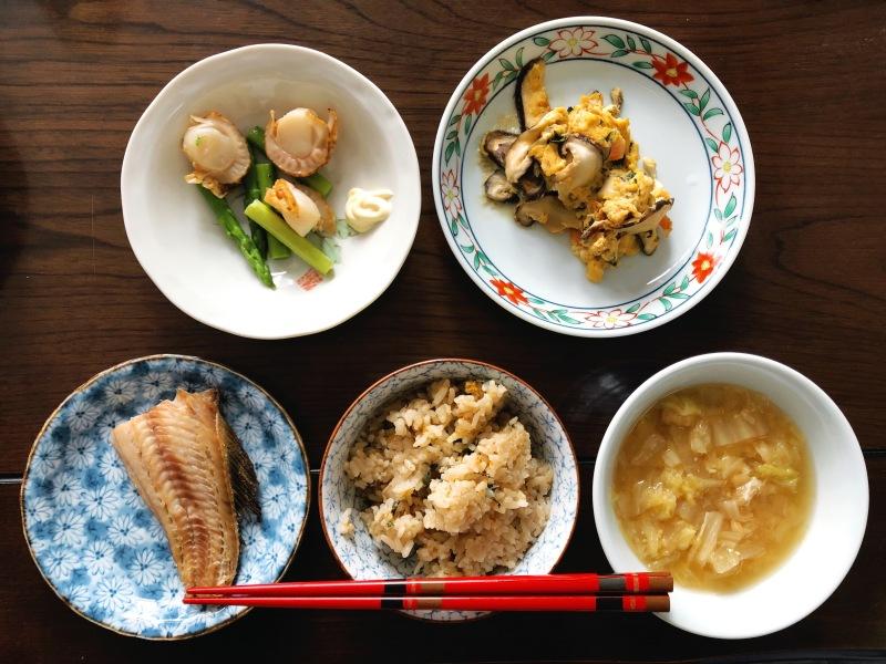 Traditional Japanese breakfast Aomori
