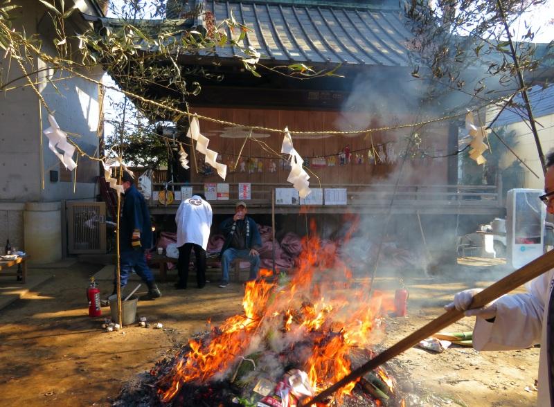 temple burning tokyo japan