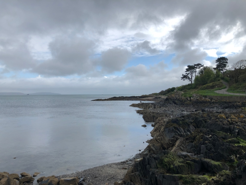 Cloudy Bangor coastline northern ireland