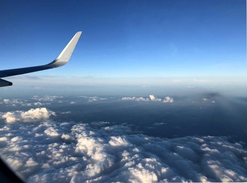 Flying from Tokyo