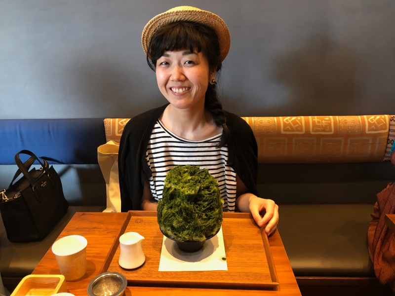 Green tea kakigori shaved ice