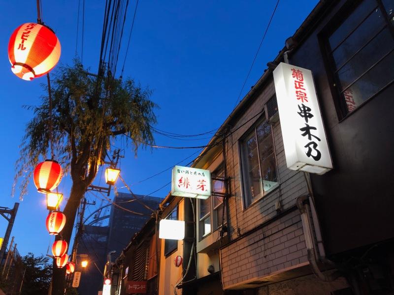 Lanterns backstreet bars Tokyo
