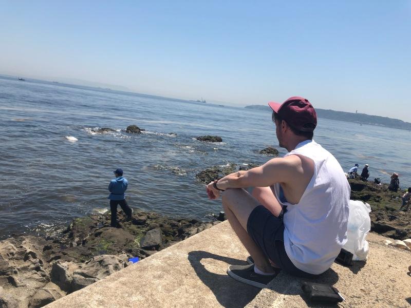 Overlooking the sea Tokyo