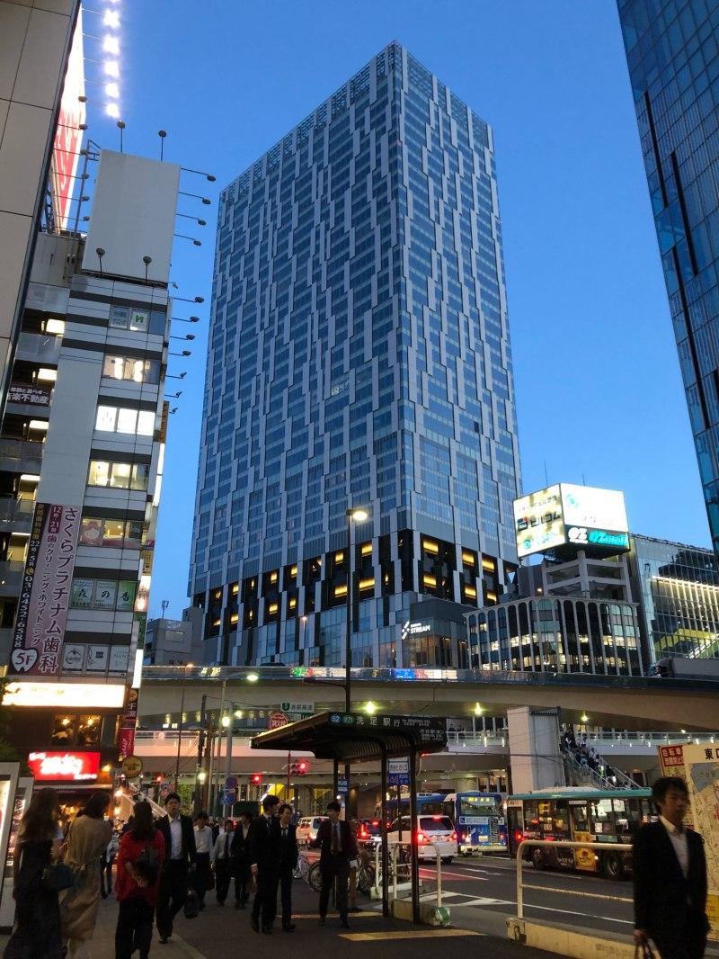Shibuya dusk Tokyo