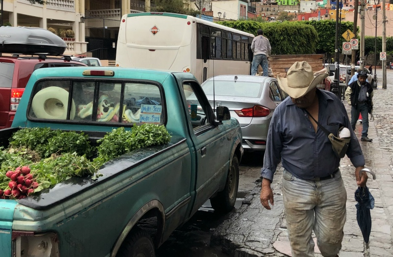 Guanajuato Mexico man with hat