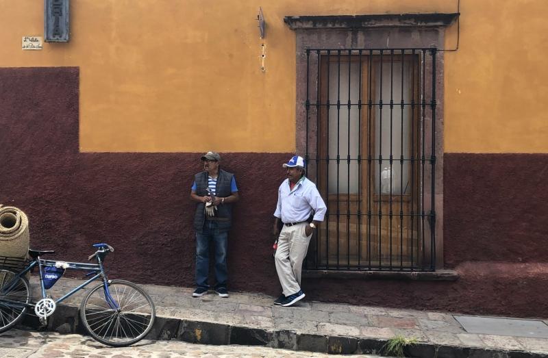 Guanajuato Mexico men standing