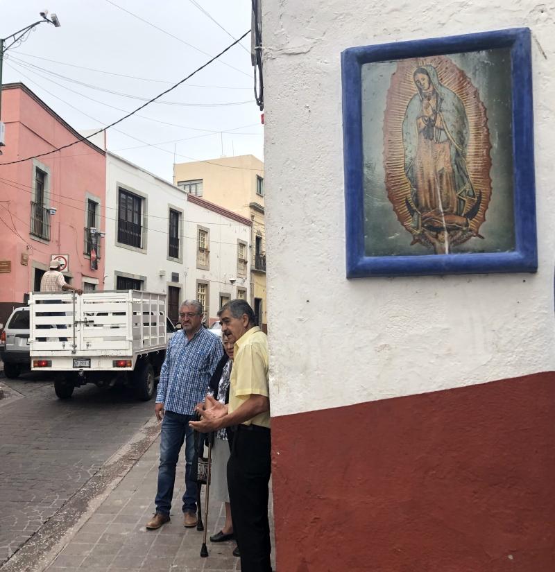 Guanajuato Mexico Religious sign wall