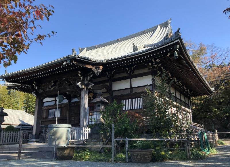 temple in autumn japan tokyo