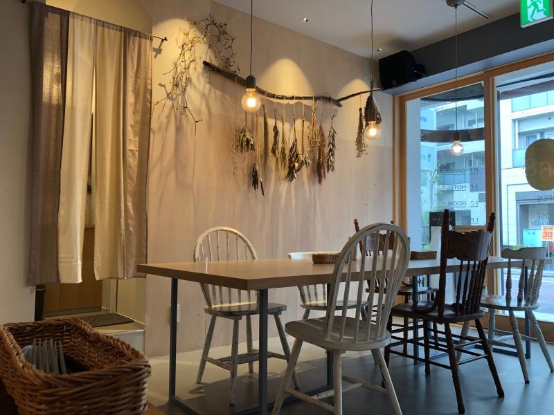 Cute cafe interior Tokyo