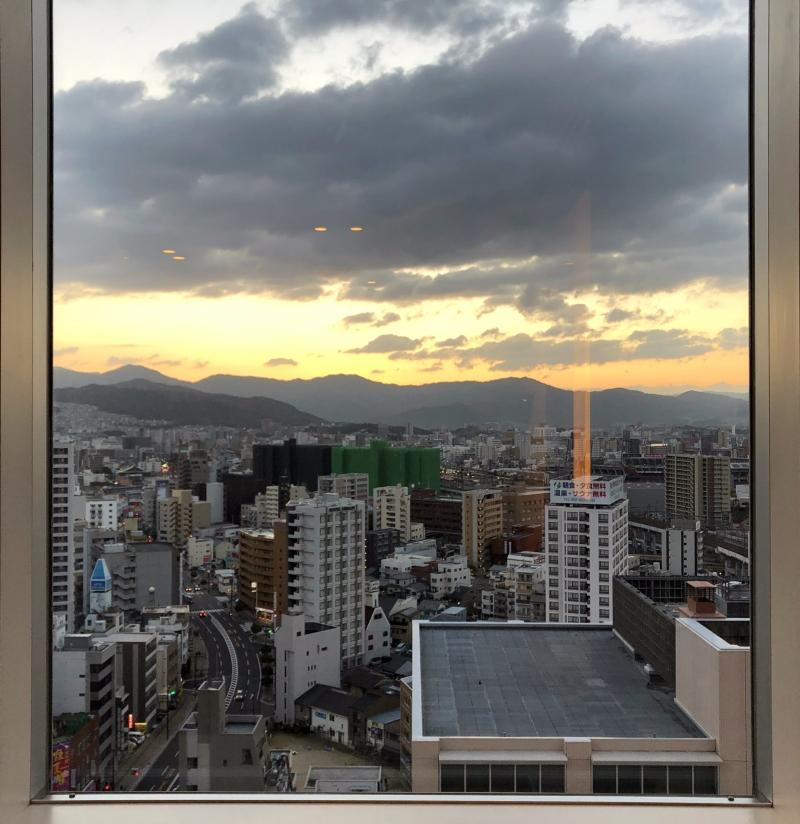 Hiroshima hotel view Shraton Grand