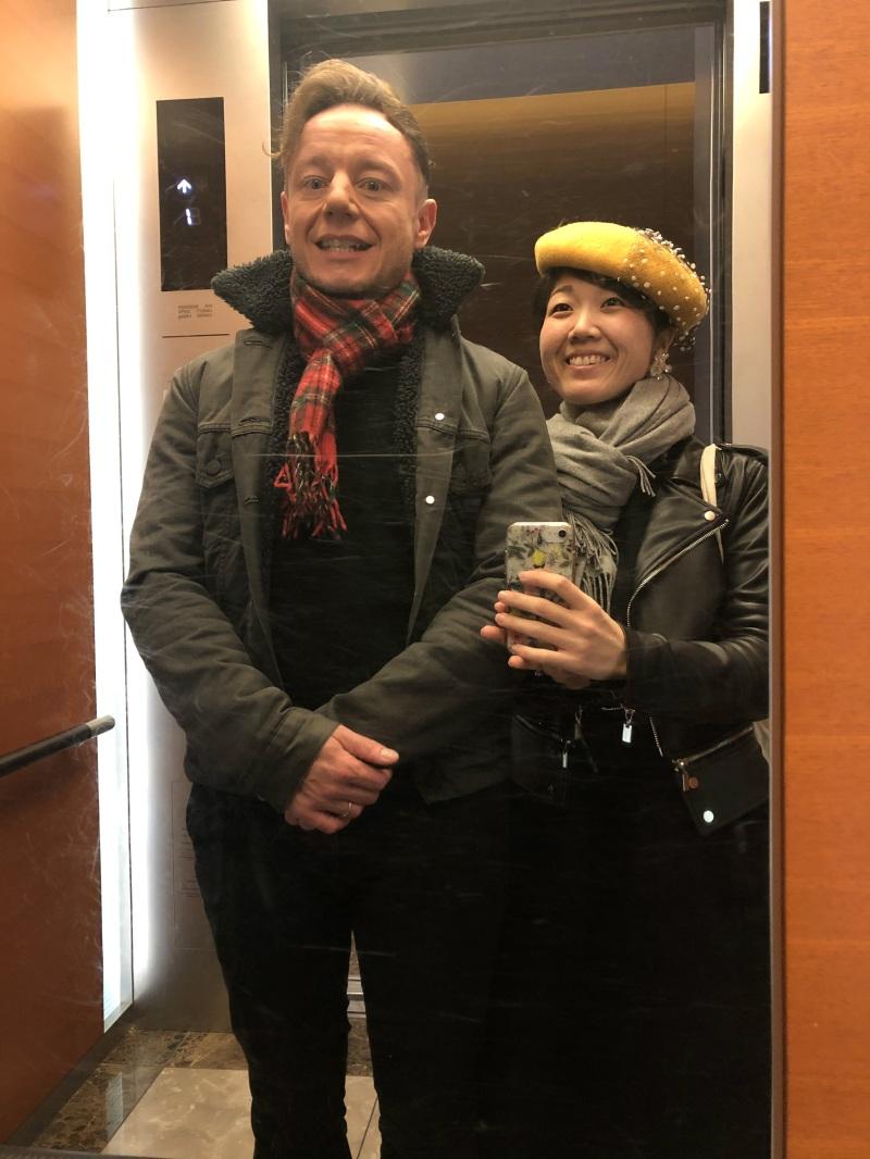 Hiroshima mirror selfie