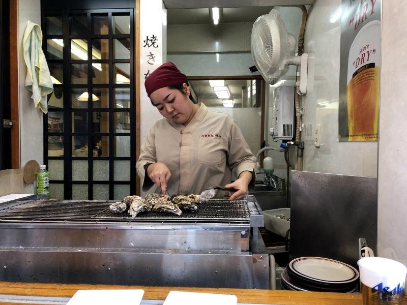 Miyjajima Hiroshima oysters grilled