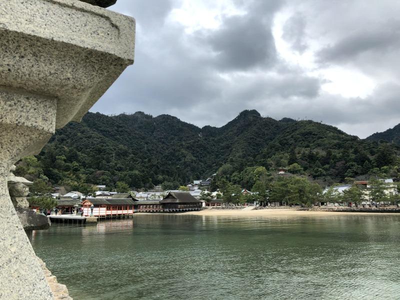 Miyjajima Hiroshima view ocean temple