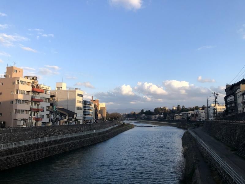 13. Kanazawa trip river dusk