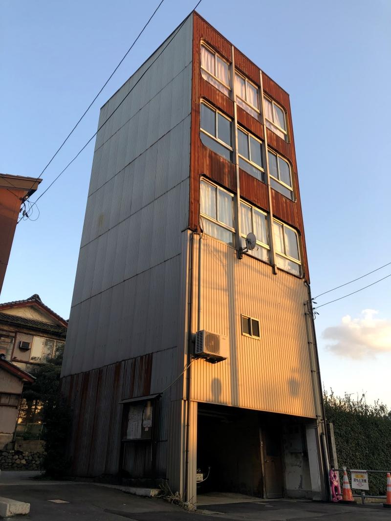 14. Kanazawa trip building dusk