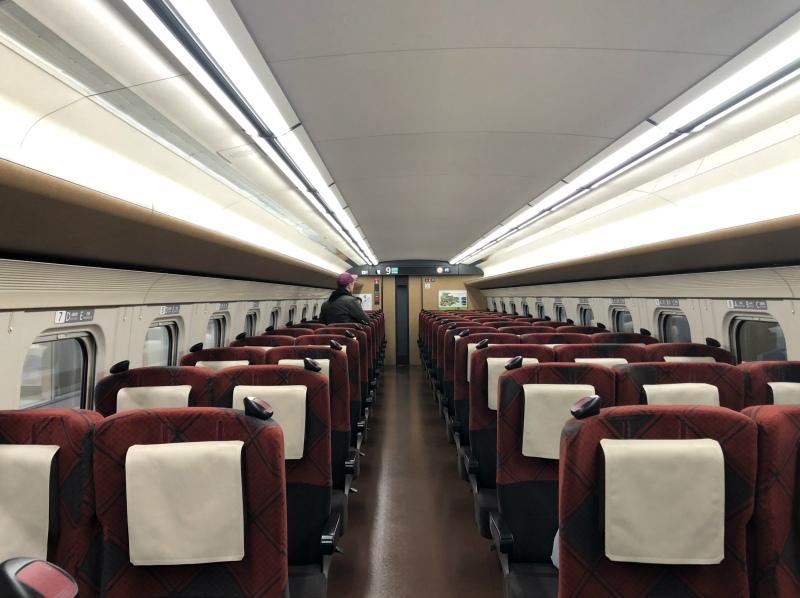 28. Kanazawa trip empty shinkansen