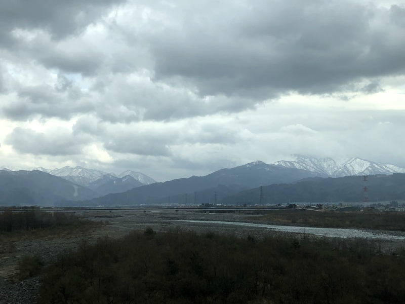 5. Kanazawa trip cloudy mountains over Nagano