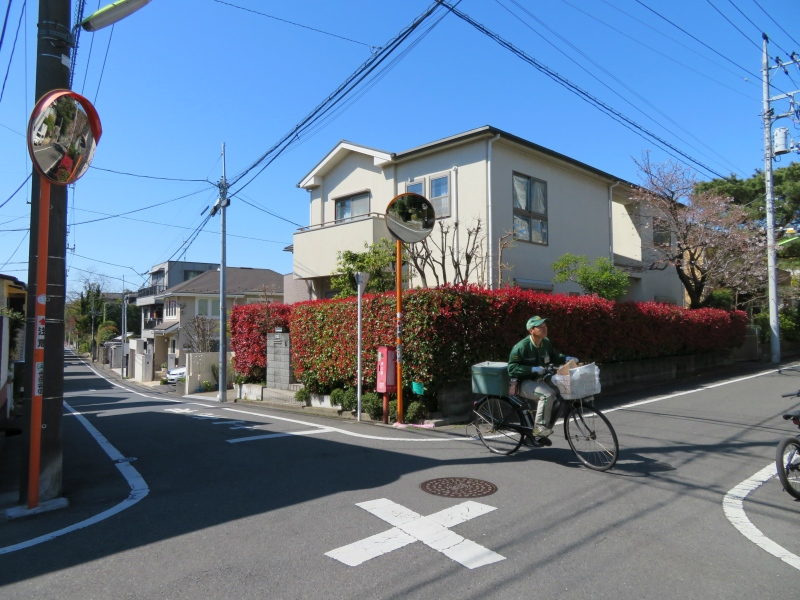 japan postal service suburbs bike courier